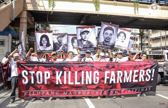 STOP. Groups protest against the killings of farmers under the Duterte administration. All photos c/o Kilab Multimedia