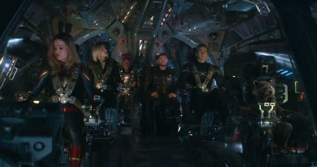 TRAVEL. Captain Marvel and Rocket accompanies the other members to space.