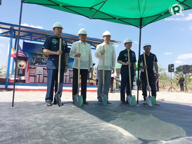 GROUNDBRREAKING: A multi-purpose warehouse will be built inside Basa Air Base in Pampanga, the first major project under the Enhanced Defense Cooperation Agreement. Photo by Carmela Fonbuena/Rappler