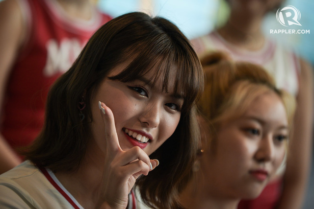 CAUGHT ON CAMERA. Ahin smiles between answering questions.