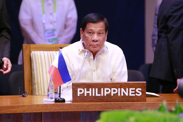 FOREIGN TRIPS. Philippine President Rodrigo Duterte, shown here at the 30th Association of Southeast Asian Nations (ASEAN) Summit in Manila, will be abroad from May 10 to 15, 2017. File photo