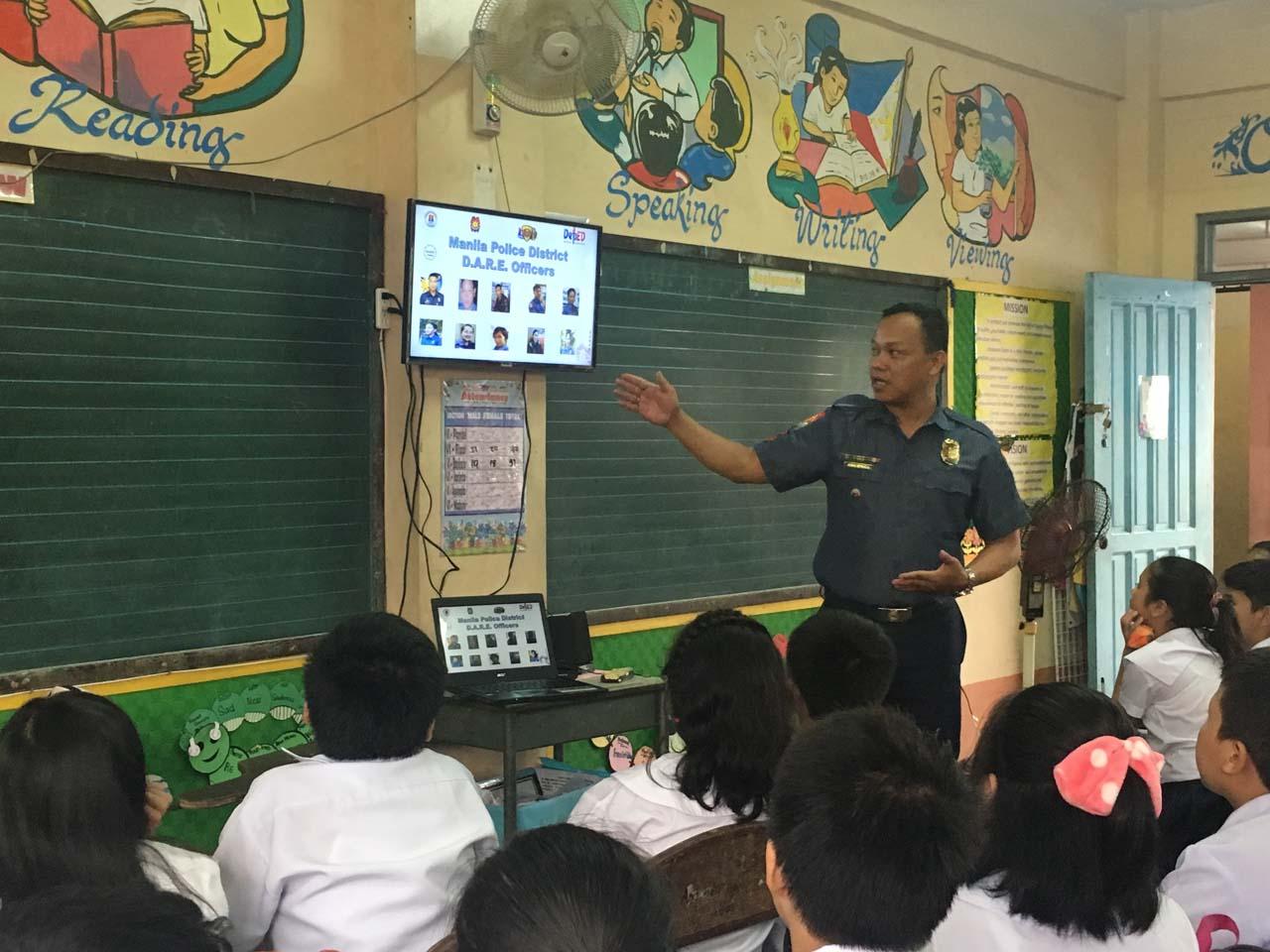 From guns to blackboards: Police officers teach kids vs drug abuse