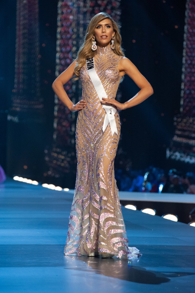 Angela Ponce, Miss Spain 2018 during the evening gown competition.