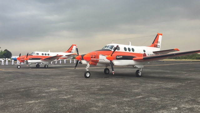 NEW PLANES. The TC-90s at the Naval Air Group headquarters in Sangley, Cavite, March 27, 2017. Photo by Carmela Fonbuena/Rappler
