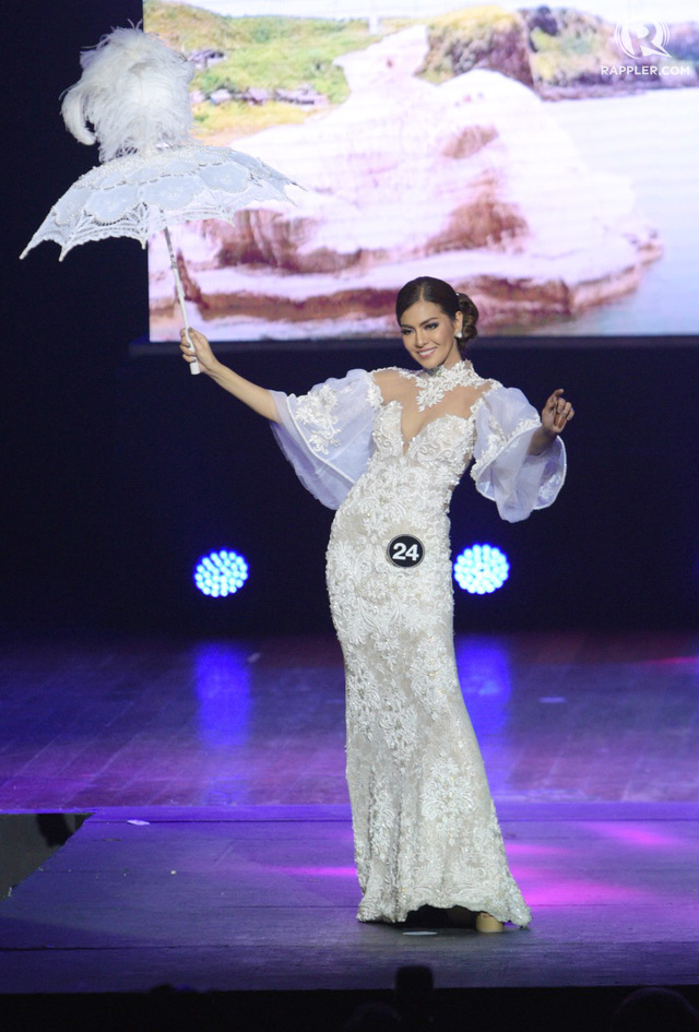 TERNO. Edjelyn Gamboa in a white terno by Nat Manilag by Photo by Alecs Ongcal/Rappler
