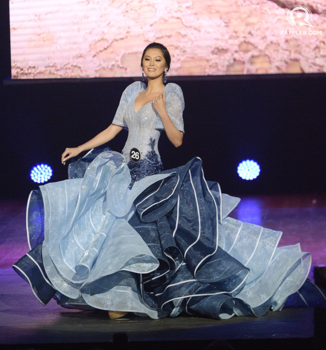 SEA OF BLUE. Wynonah Buot's costume is inspired by Cebu's beaches.