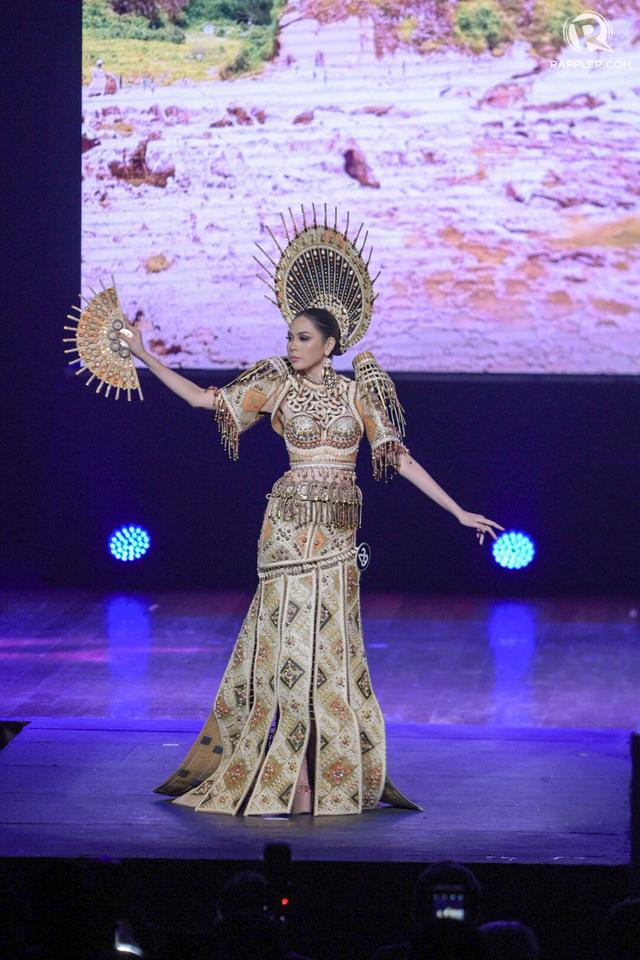 INDIGENOUS INSPIRATION. Samantha Avestruz's costume makes use of indigenous materials.