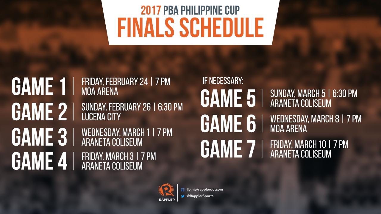 Philippine Food SCHEDULE: 2017 PBA Phi...