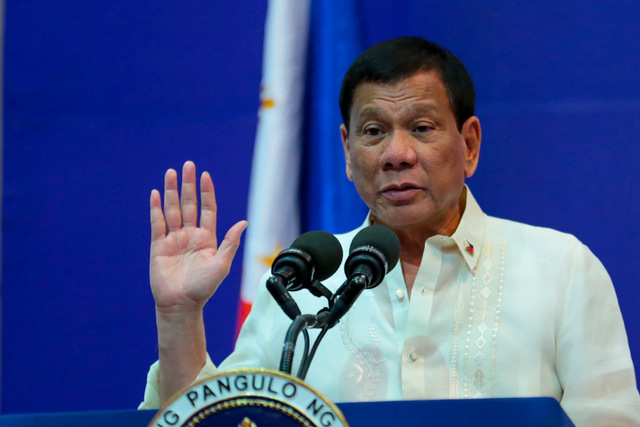 NO HONORARY DEGREE. President Rodrigo  Duterte says no to an honorary degree from the University of the Philippines. Malacañang photo