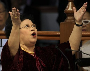 Miriam Santiago: Memorable quotes, lines, zingers