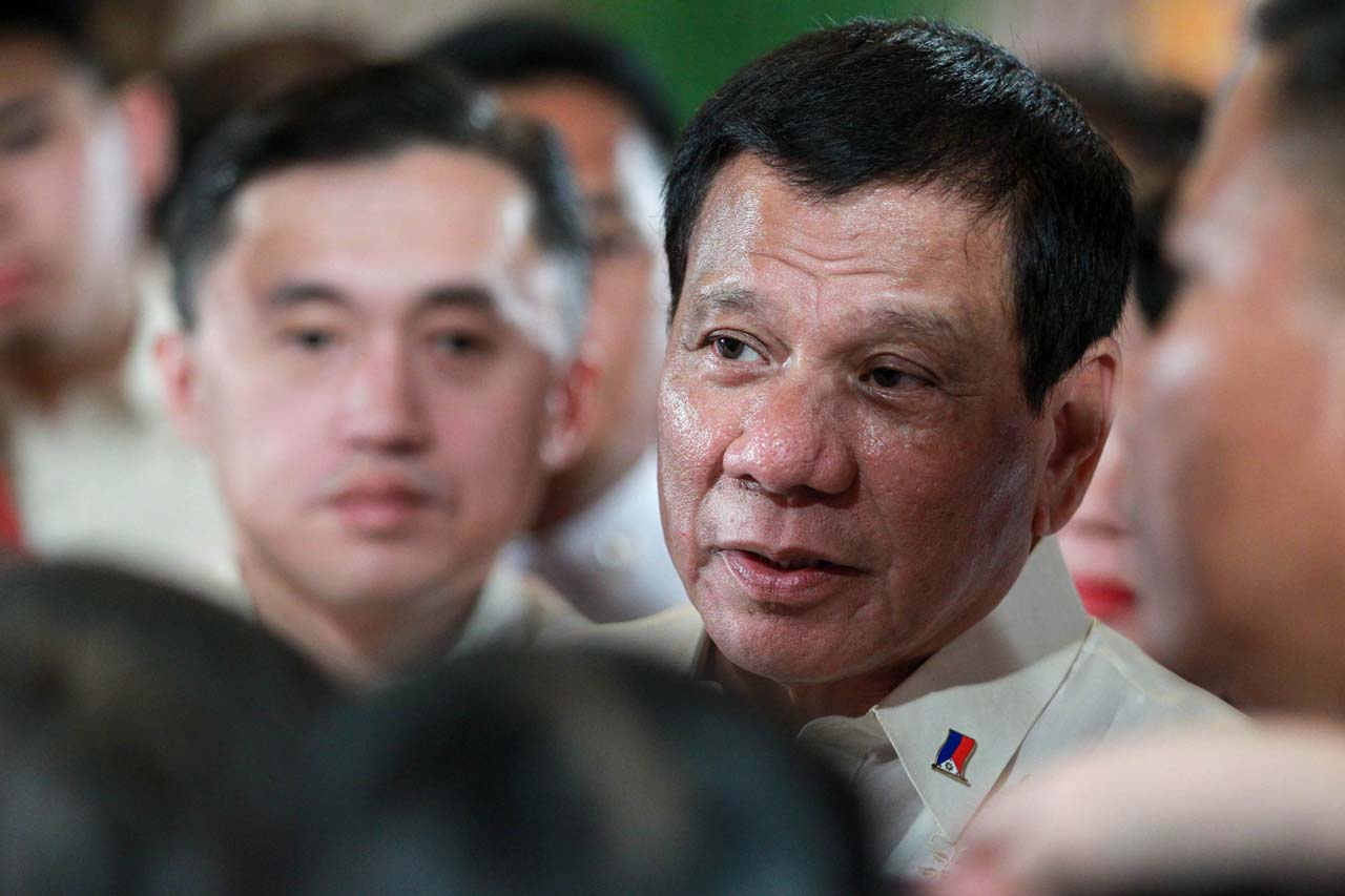 'I'LL FORGET IT.' President Rodrigo Duterte is open to 'forgetting' about the falsification of tax stamps by Mighty Corp if they pay the government P3 billion. Photo by King Rodriguez/Presidential Photo