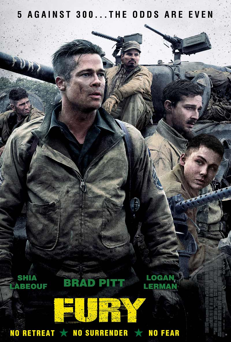 73007 Fury Movie Review Brad Pitt on Moving Things