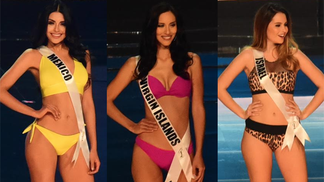 d9e2ba987ce44 SWIMSUIT COMPETITION. The Miss Universe 2016 candidates pose for cameras at  the pageant's preliminary rounds