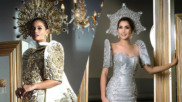 FLORES DE MAYO FASHIONS. Charmaine Elima and Dane Felisse Marasigan. Photos courtesy of Raymond Saldaña/Bb Pilipinas
