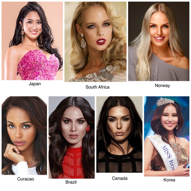 POTENTIAL PICKS. These ladies may also be a surprise candidate during November 14. Photos from Miss International website