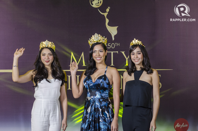 NEW CROWNS. The reigning titleholders wearing the news crowns designed by Hoseki.