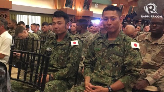 JAPAN. The Japan Maritime Self Defense Force has 20 personnel participating in Exercise Balikatan 2018. Photo by Carmela Fonbuena/Rappler