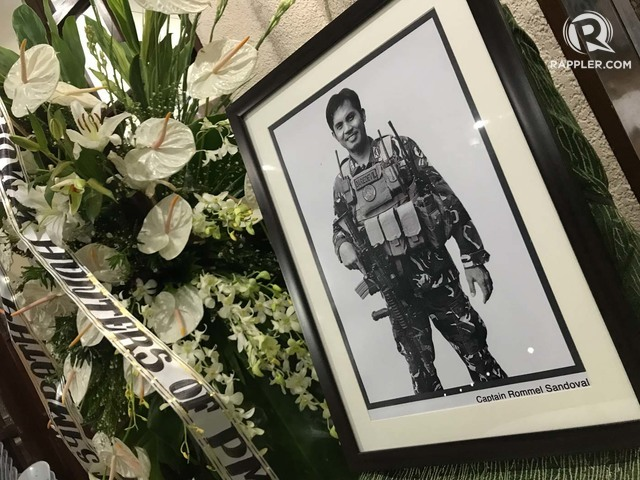 'DAREDEVIL.' Captain Rommel Sandoval's courage was 'above and beyond the call of duty,' his superiors say. Photo by Franz Lopez/Rappler