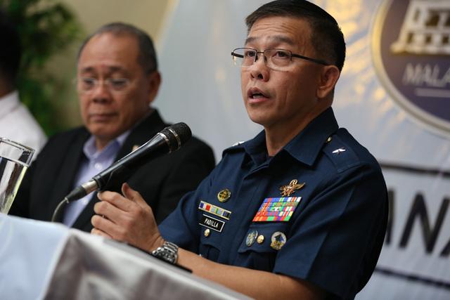 TALKING MARTIAL LAW. AFP spokesman Brigadier General Restituto Padilla give updates on Marawi. Malacañang photo