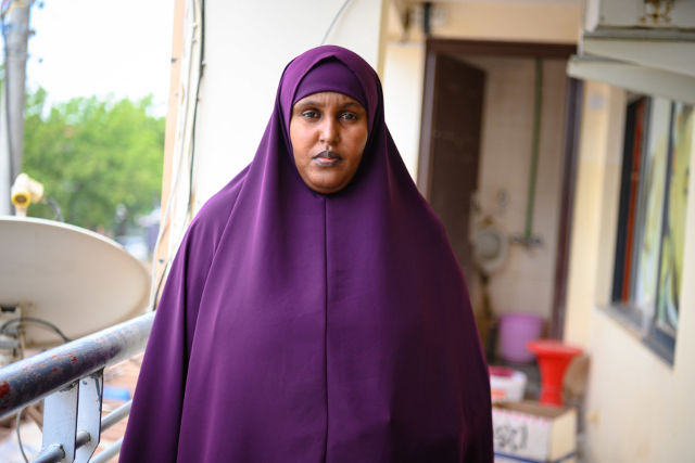 "TRAPPED. Amina Ali Adan, a victim of double registration, feels trapped by her situation: ""I am begging the government to help us. We are not refugees."" -Klein Ongaki"