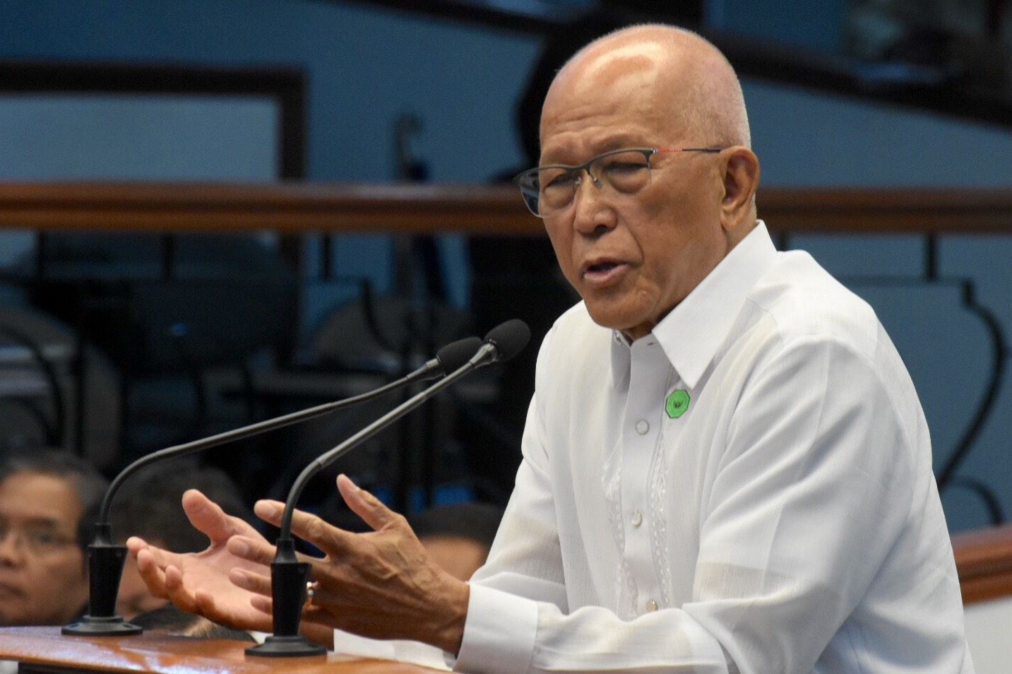 NOW UNSURE. Defense Secretary Delfin Lorenzana is now unsure if the vessel that sank a Philippine boat was Chinese. File photo by Angie de Silva/Rappler