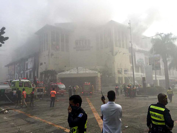 Fire hits Cebu mall