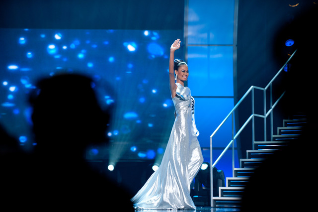 The Philippines' Venus Raj during the 2010 Miss Universe pageant in Las Vegas