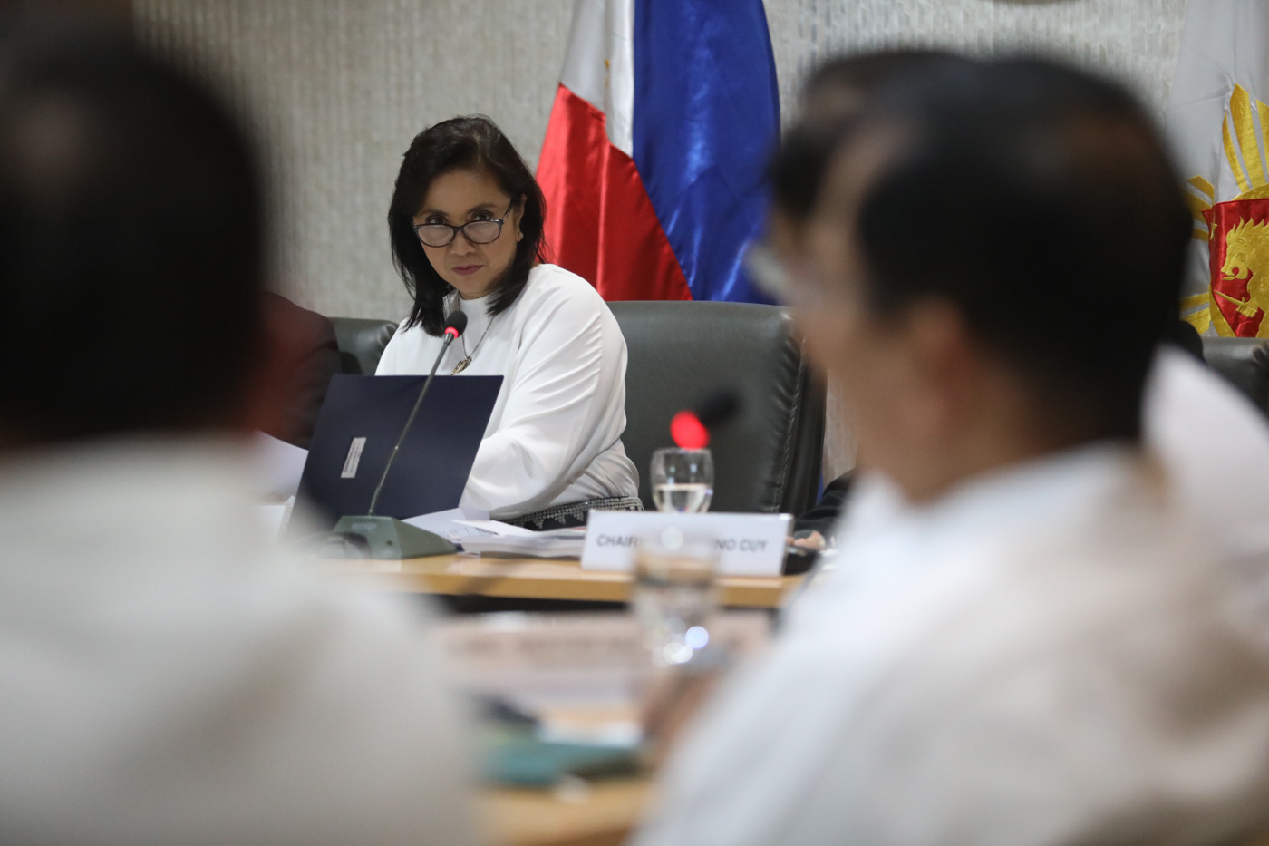 VICE PRESIDENT Leni Robredo presides a meeting of the Inter-agency Committee on Anti-illegal Drugs. OVP photo