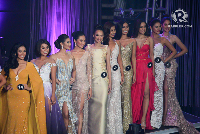 ELEGANT. The ladies during the evening gown portion. Photo by Rappler