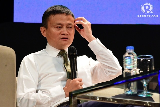 LOADING. Alibaba Group founder Jack Ma weighs in on a number of topics, including Philippine internet, in a forum at De Le Salle University on October 25, 2017. Photo by Alecs Ongcal/Rappler