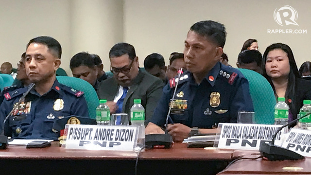 WHERE'S THE MONEY? Police SSupt Andre Dizon during the senate hearing on SAF funds on May 22, 2018. Photo by Rambo Talabong/Rappler