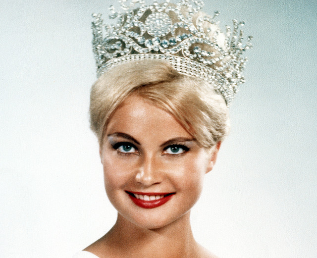 MISS UNIVERSE 1961. Marlene Schmidt, the first Miss Universe from Germany, won her title in Miami Beach, Florida. Photo from Miss Universe Organization