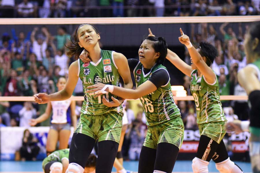 IN PHOTOS: Smiles, tears as La Salle wins UAAP volleyball ...
