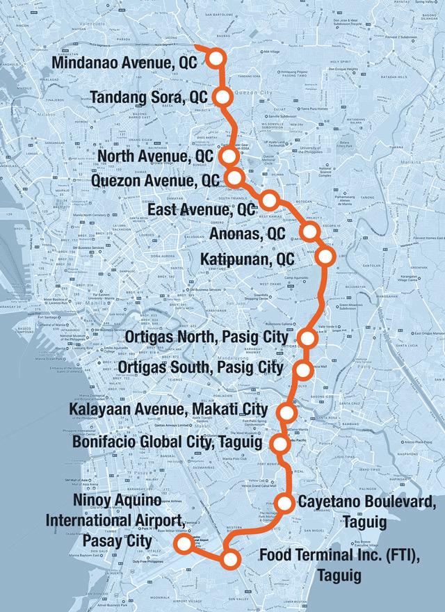 Mega Manila Subway Map.Phl Mega Manila Subway