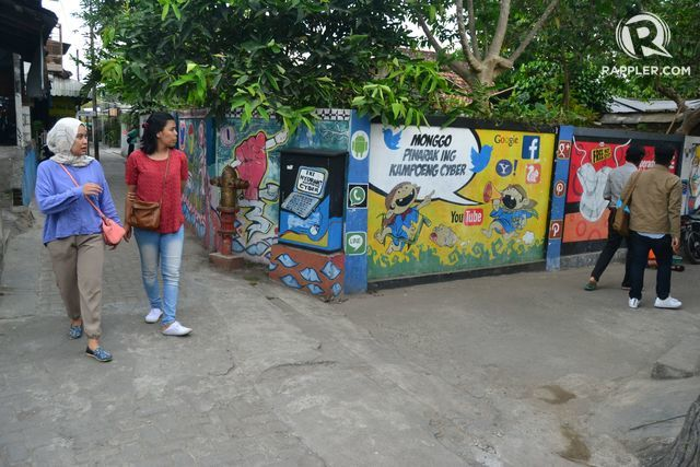 Suasana di Kampung Cyber. Foto oleh Dyah Ayu Pitaloka/Rappler