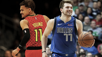 f14e23a60ce ROOKIE HOTSHOTS. Young standouts Trae Young of the Hawks and Luka Doncic of  the Mavericks