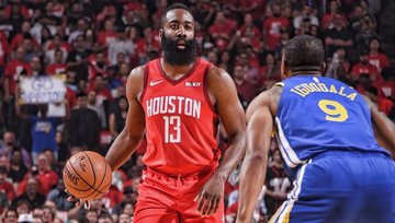 433d6d1356d0 HOT HARDEN. The Rockets survive another late push from the Warriors behind James  Harden.