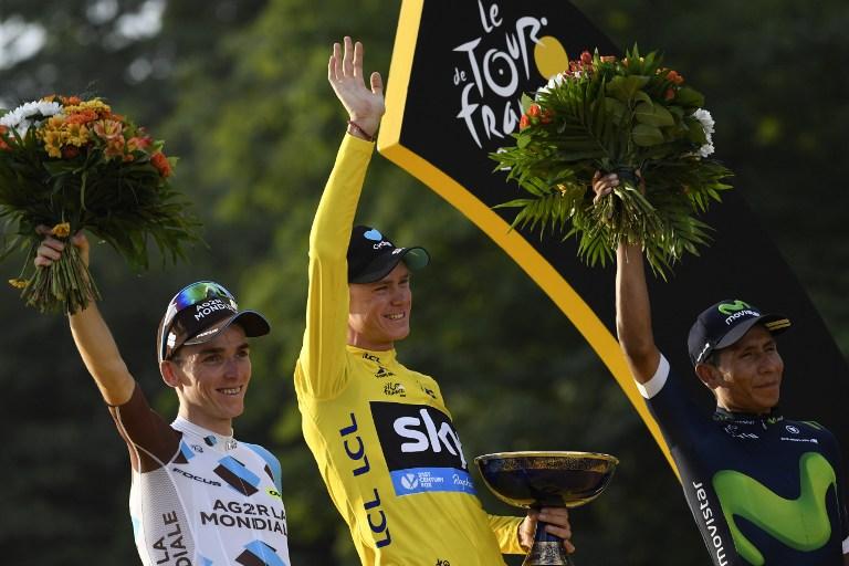 06d6ba237 Tour de France 2016 s winner Christopher Froome (C)