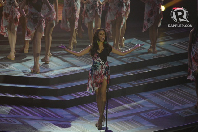 HEAVY FAVORITE. Catriona Gray during her introduction. Photo by Rappler