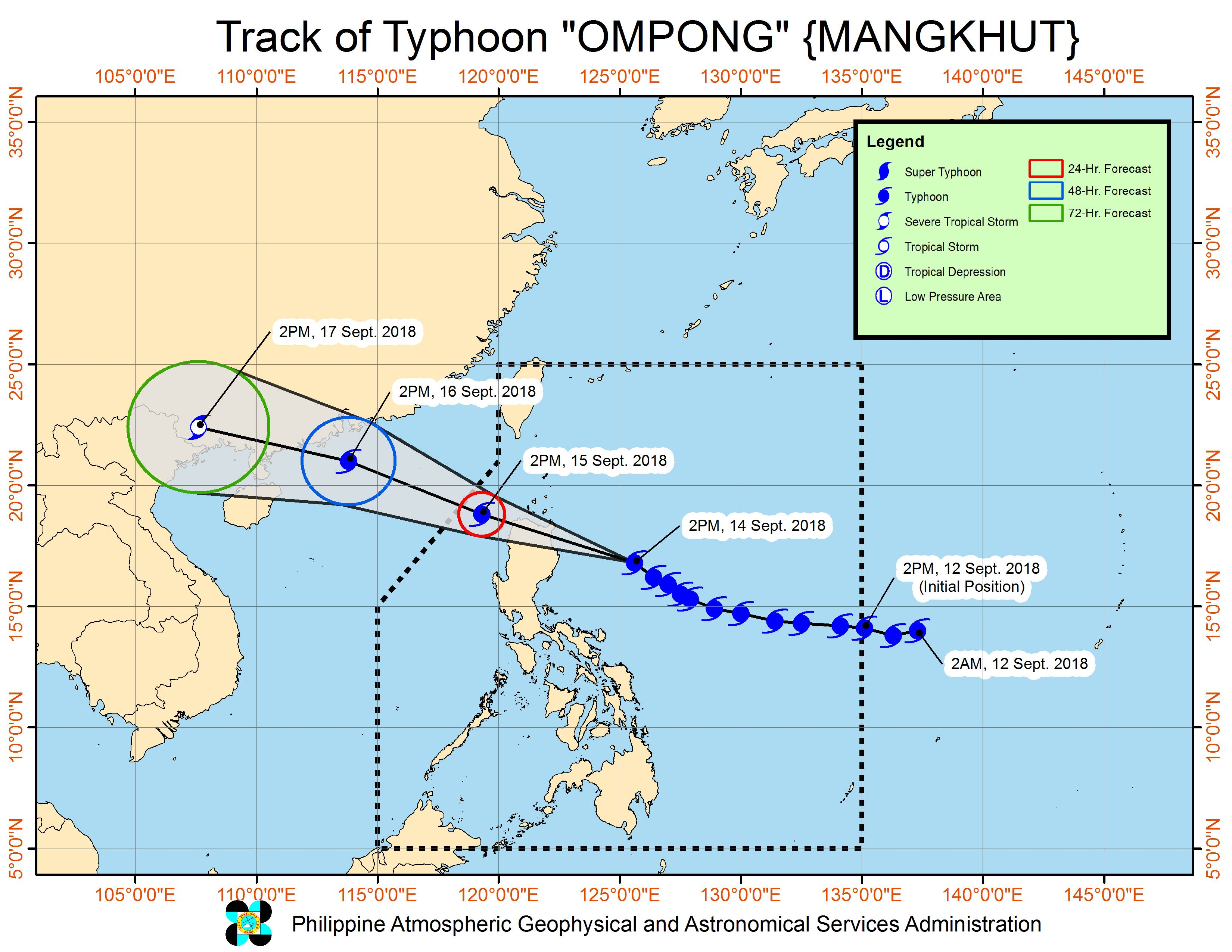 Typhoon Ompong: Signal No  4 in Cagayan, northern Isabela