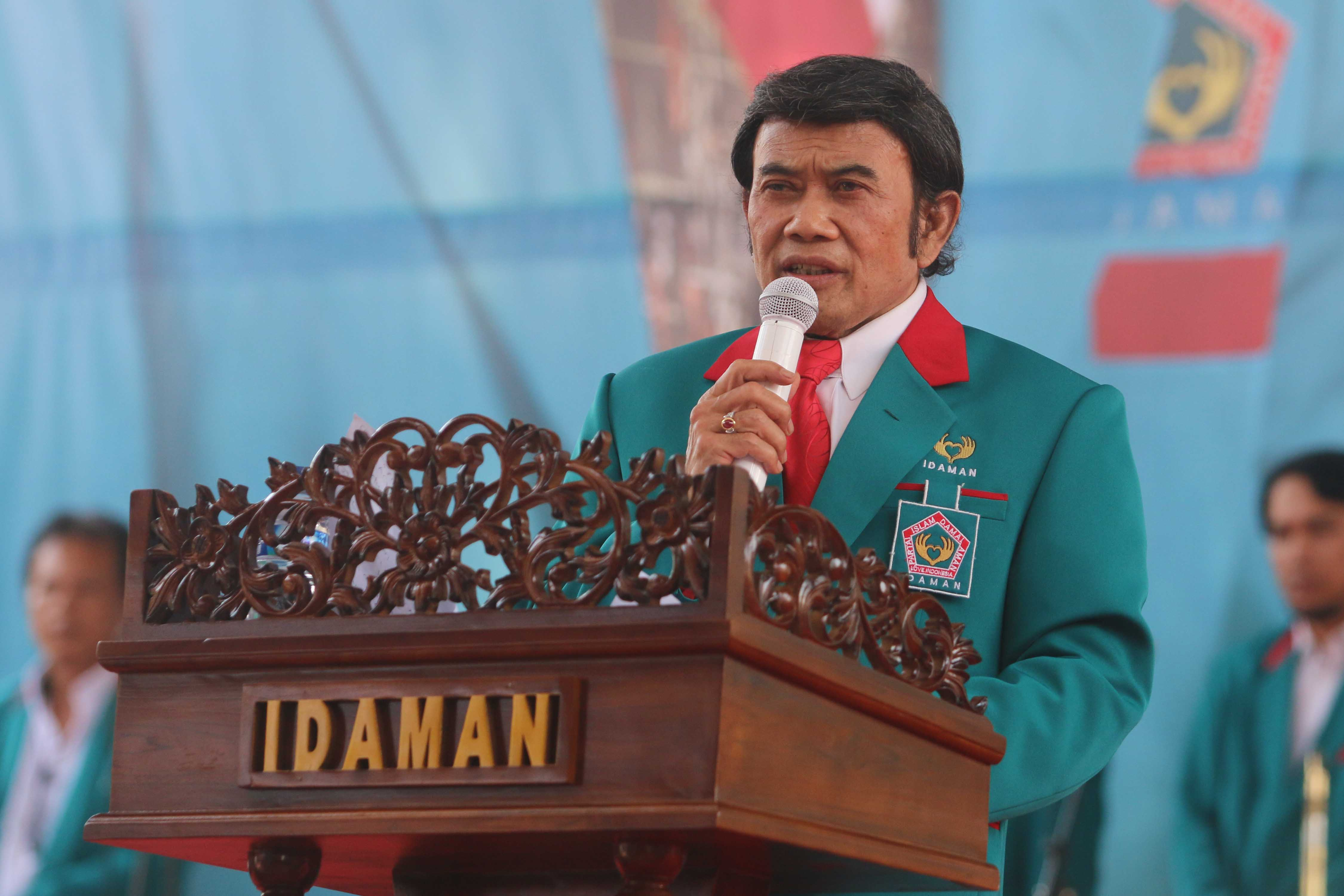 Hasil gambar untuk foto rhoma irama soal partai idaman